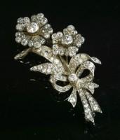 Lot 36-A Victorian diamond set spray brooch
