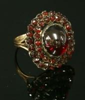Lot 50-A bohemian garnet cluster ring