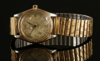 Lot 593-A gentlemen's bicolour Rolex Oyster Perpetual Chronometer strap watch model 50180