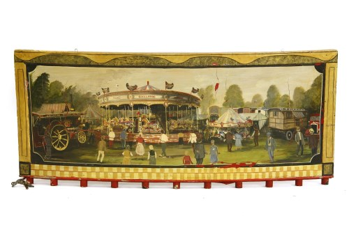 Lot 19-A PAINTED FAIRGROUND PANEL