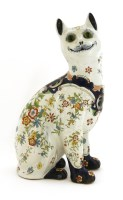 Lot 10-A French faience pottery cat