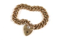 Lot 36-A gold hollow curb link bracelet
