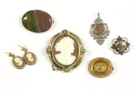 Lot 34-A collection of jewellery to include a Victorian gold brooch