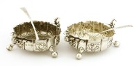 Lot 519-A pair of silver dishes