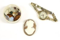Lot 40-A ladies gold Walker and Hall bracelet watch