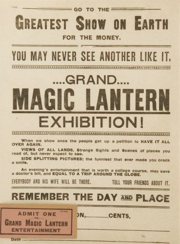 Lot 10-A MAGIC LANTERN EXHIBITION POSTER