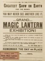 Lot 10 - A MAGIC LANTERN EXHIBITION POSTER