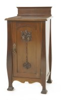 Lot 10-A mahogany bedside cupboard