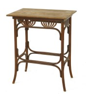 Lot 12-A Thonet stained beechwood side table