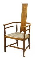 Lot 14-A William Birch mahogany inlaid chair