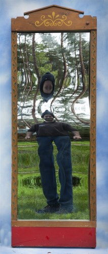 Lot 18-A FAIRGROUND MIRROR