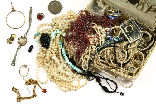 Lot 37-A collection of costume jewellery to include