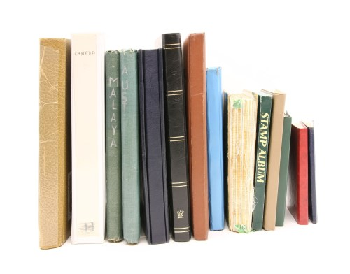 Lot 14-All world in eleven albums and stock books