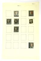Lot 32-Seven penny blacks