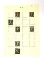 Lot 39-Seven penny blacks