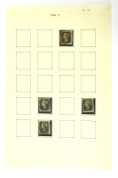 Lot 40-Four penny blacks