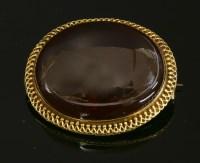 Lot 48-A Victorian gold garnet  brooch