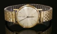 Lot 600-A gentlemen's gold plated Tudor mechanical strap watch