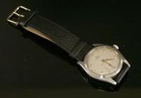 Lot 599-A gentlemen's stainless steel Rolex Oyster mechanical strap watch