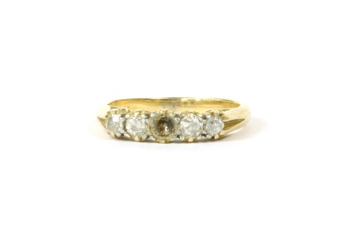 Lot 7-A gold five stone diamond ring