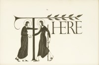 Lot 21-Eric Gill (1882-1940) 'AND: THE RAISING OF LAZARUS' Wood engraving