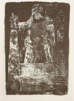 Lot 17-*John Piper CH (1903-1992) 'EXTON RUTLAND: MONUMENT BY GRINLING GIBBONS' (LEVINSON 126) Signed in pencil and numbered 13/70