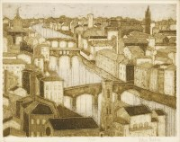 Lot 16-*Valerie Thornton (1931-1991) 'ARNO' Etching with aquatint