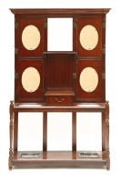 Lot 34 - A late Victorian mahogany hall stand