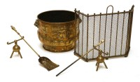 Lot 73-A brass log bin