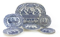 Lot 72-A pottery blue and white platter