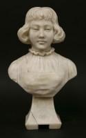 Lot 66-An alabaster bust