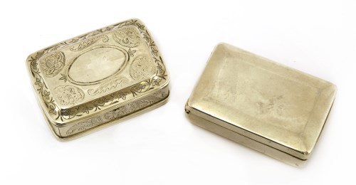Lot 23-A George III silver box