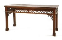 Lot 516-A mahogany hall table