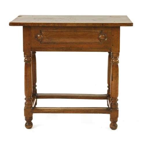 Lot 527-A Continental walnut side table