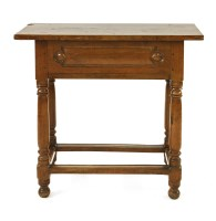 Lot 527 - A Continental walnut side table