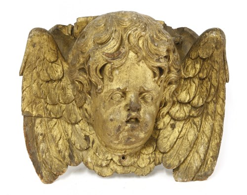 Lot 504-A carved gilt wood bracket