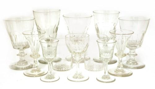 Lot 515-A matched set of sixteen wine glasses