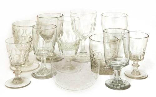 Lot 513-Seven glass tumblers