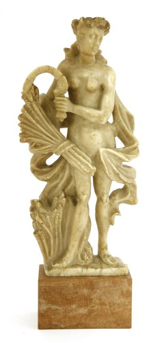 Lot 539-An alabaster figure