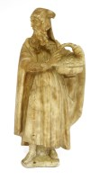 Lot 565-An alabaster figure