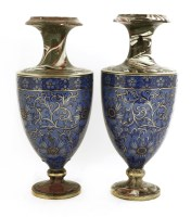 Lot 574-A pair of pottery vases