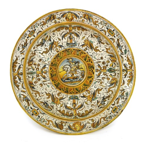 Lot 528-A faience charger