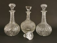 Lot 517-A pair of Victorian onion-shaped decanters and stoppers