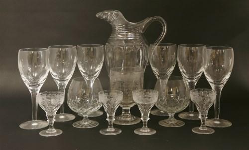 Lot 516-A cut glass water jug