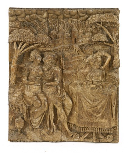 Lot 550-An oak panel
