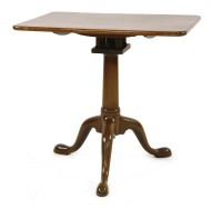 Lot 549 - A George III mahogany tripod table