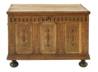 Lot 557-An oak coffer