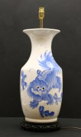 Lot 68-A 20th century Chinese blue and white vase