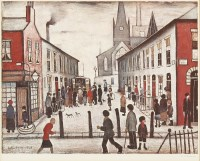 Lot 10-*Laurence Stephen Lowry RA (1887-1976) 'THE FEVER VAN' Offset lithograph printed in colours