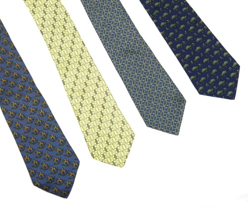 Lot 442 - Four Hermès silk ties